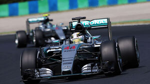 Hamilton - Rosberg - Mercedes - GP Ungarn 2015 - Training
