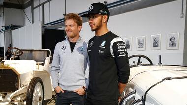 Hamilton & Rosberg - Mercedes - Saison-Kick-Off - Fellbach - 2016