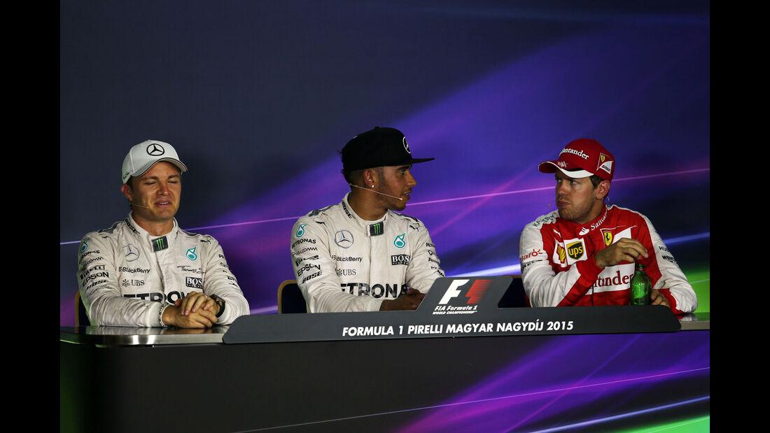 Hamilton - Rosberg - Vettel - GP Ungarn - Budapest - Qualifying - Samstag - 25.7.2015
