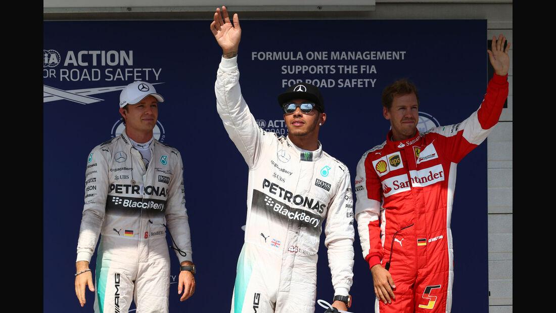 Hamilton - Rosberg - Vettel - GP Ungarn - Qualifying