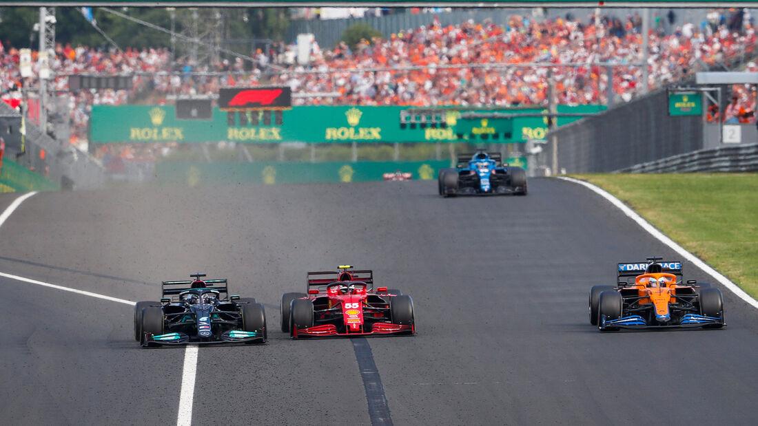 Hamilton - Sainz - GP Ungarn 2021 - Budapest - Rennen