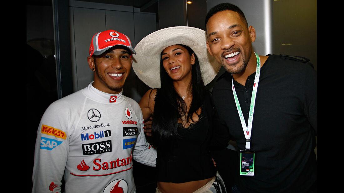 Hamilton, Scherzinger & Will Smith - Formel 1 - GP Monaco - 26. Mai 2012