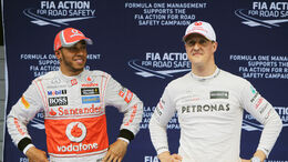 Hamilton & Schumacher - GP China 2012