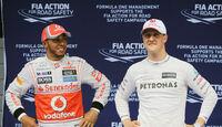 Hamilton & Schumacher - GP China 2012