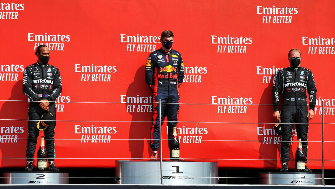 Hamilton - Verstappen - Bottas - GP 70 Jahre F1 - Silverstone