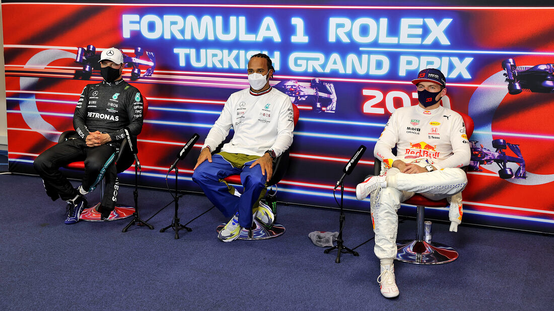 Hamilton, Verstappen & Bottas  - GP Türkei - Istanbul - Formel 1 - 9. Oktober 2021