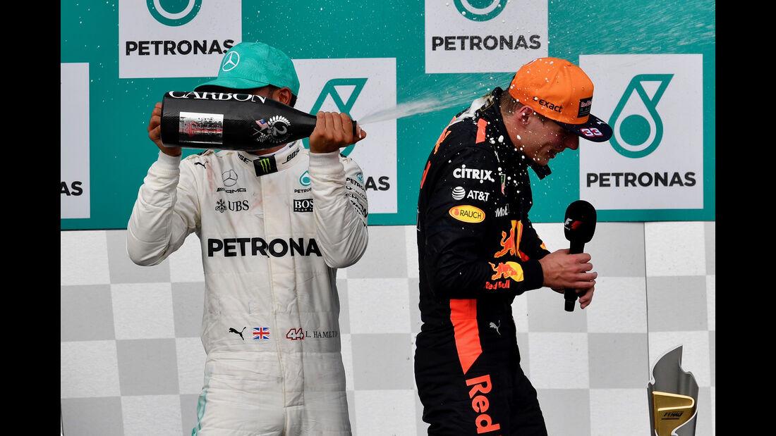 Hamilton & Verstappen - GP Malaysia 2017