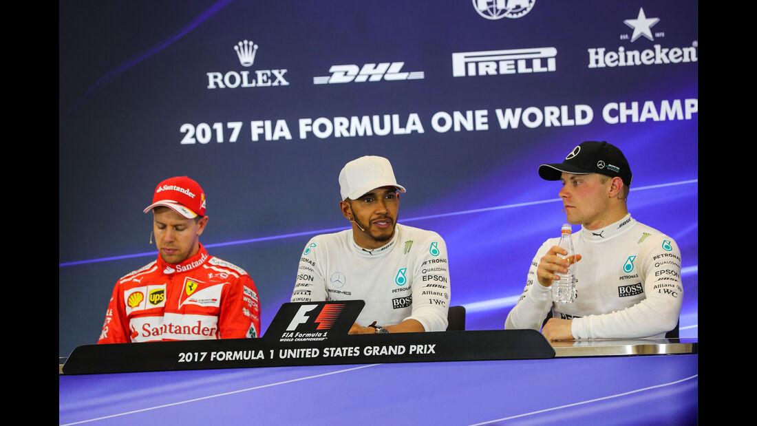 Hamilton - Vettel - Bottas - GP USA 2017 - Qualifying