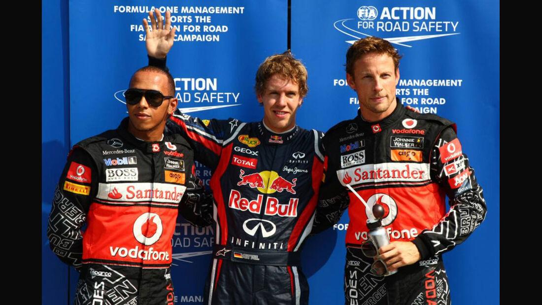 Hamilton, Vettel & Button - GP Italien - Monza - 10. September 2011