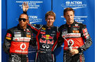 Hamilton, Vettel & Button - GP Italien - Monza - 10. September 2011