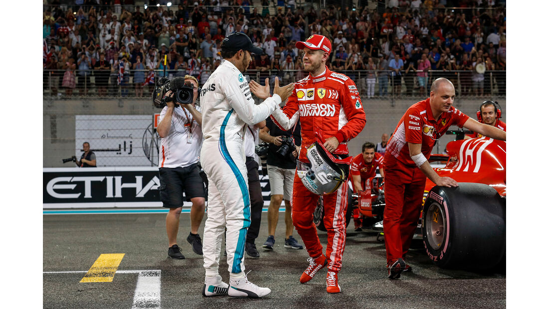 Hamilton & Vettel - Formel 1 - GP Abu Dhabi  -24. November 2018