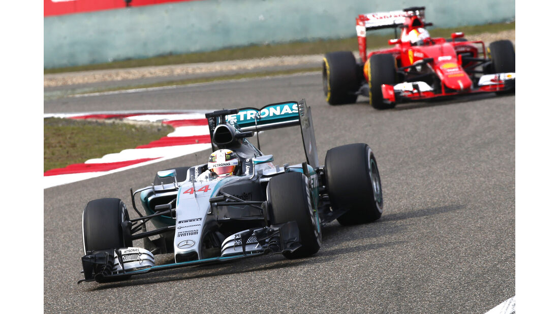 Hamilton & Vettel - Formel 1 - GP China - Shanghai - 10. April 2015