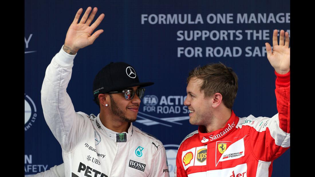 Hamilton & Vettel - Formel 1 - GP China - Shanghai - 11. April 2015