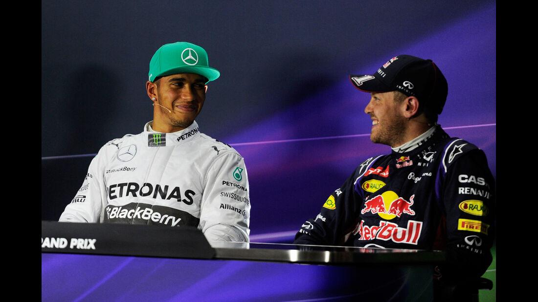 Hamilton & Vettel - Formel 1 - GP China - Shanghai - 19. April 2014