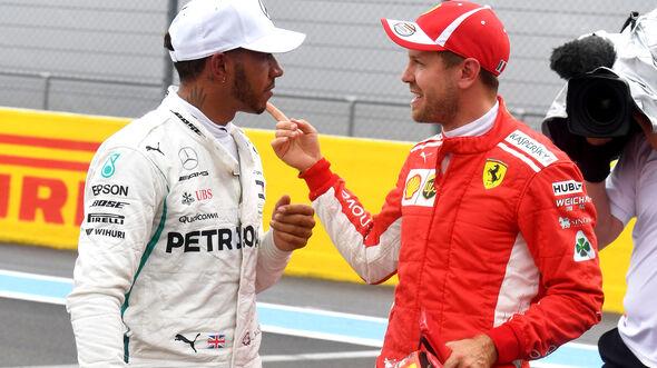 Hamilton & Vettel - Formel 1 - GP Frankreich - Circuit Paul Ricard - Le Castellet - 23. Juni 2018