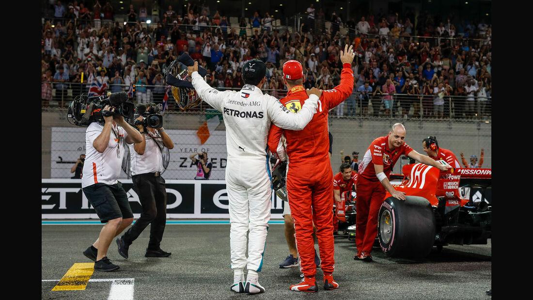 Hamilton & Vettel - GP Abu Dhabi 2018