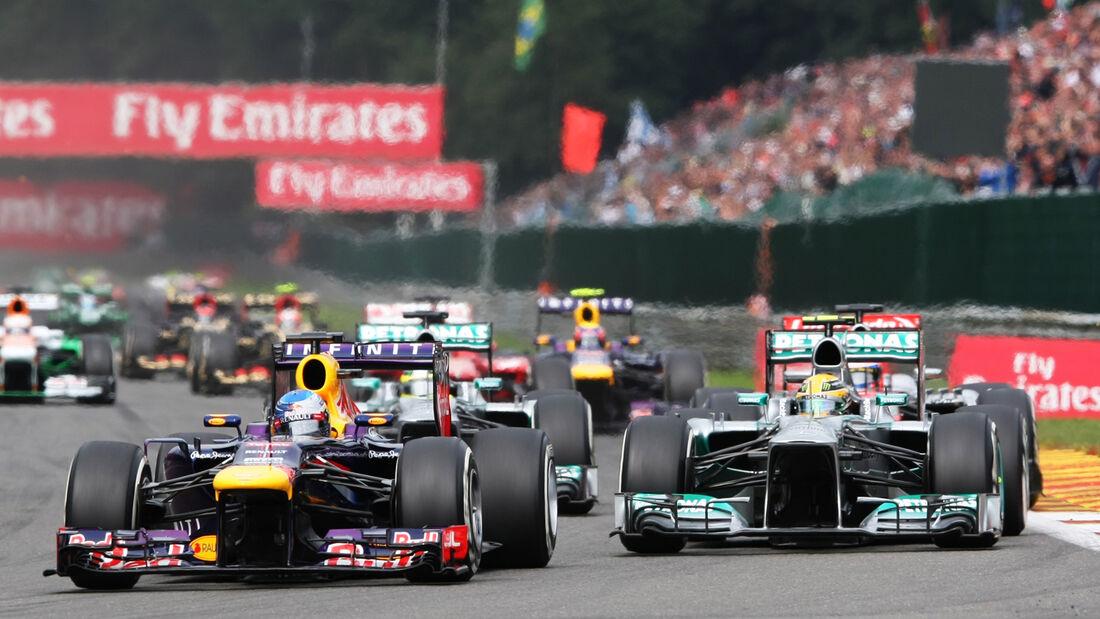 Hamilton & Vettel - GP Belgien 2013