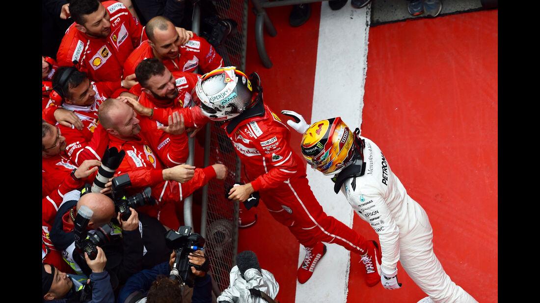 Hamilton - Vettel - GP China 2017 - Shanghai - Rennen