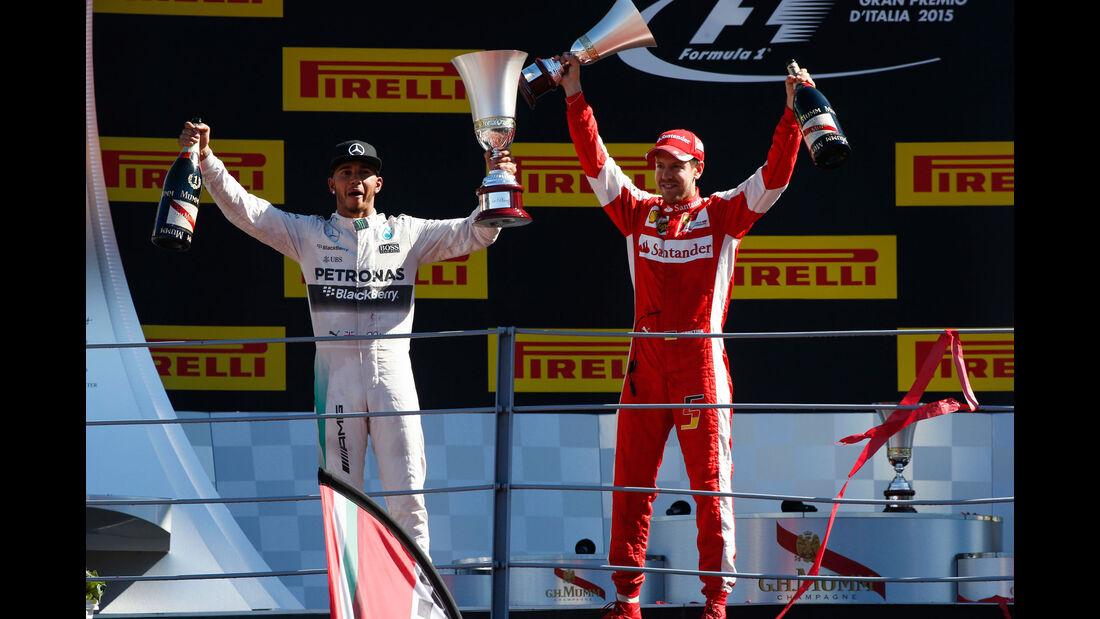 Hamilton - Vettel - GP Italien 2015 - Monza