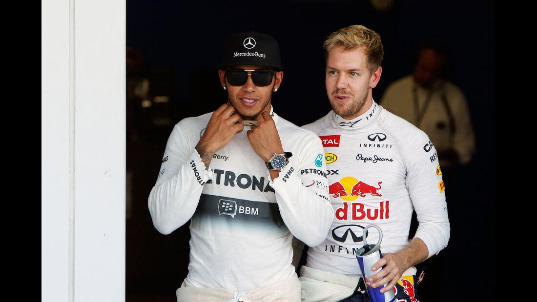 Hamilton & Vettel - GP Japan 2013