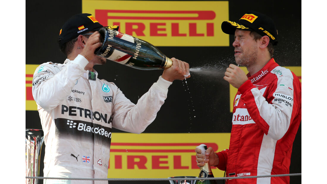 Hamilton & Vettel - GP Spanien 2015