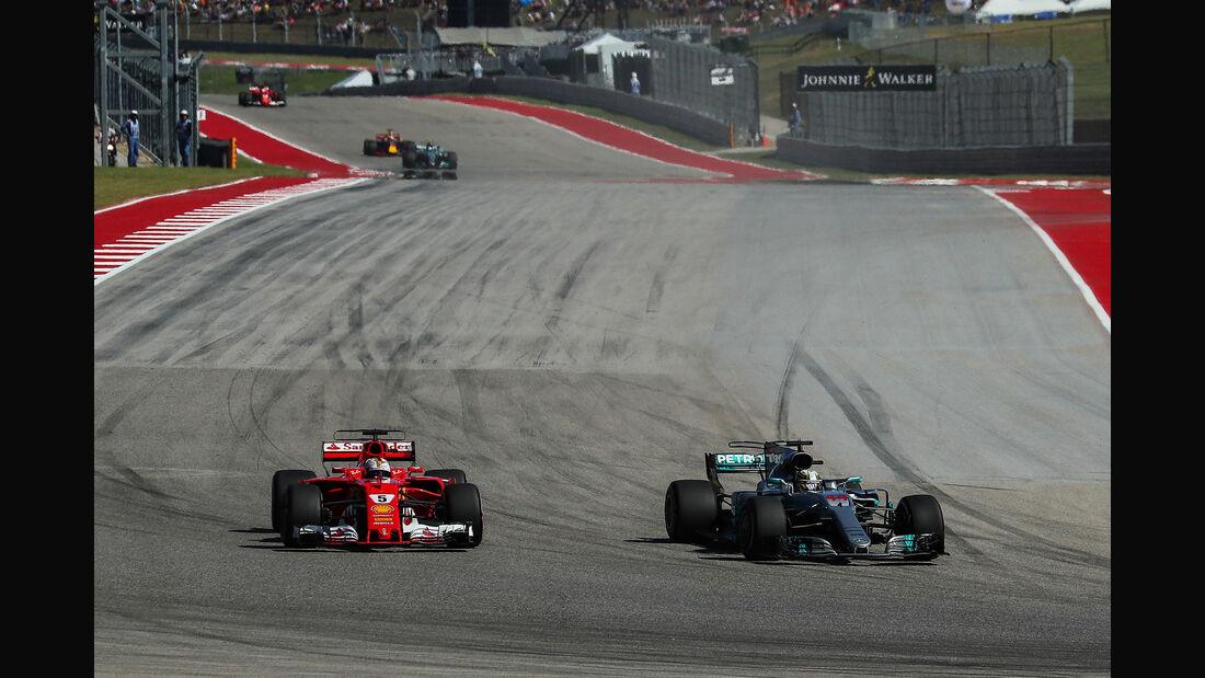 Hamilton - Vettel - GP USA 2017 - Rennen