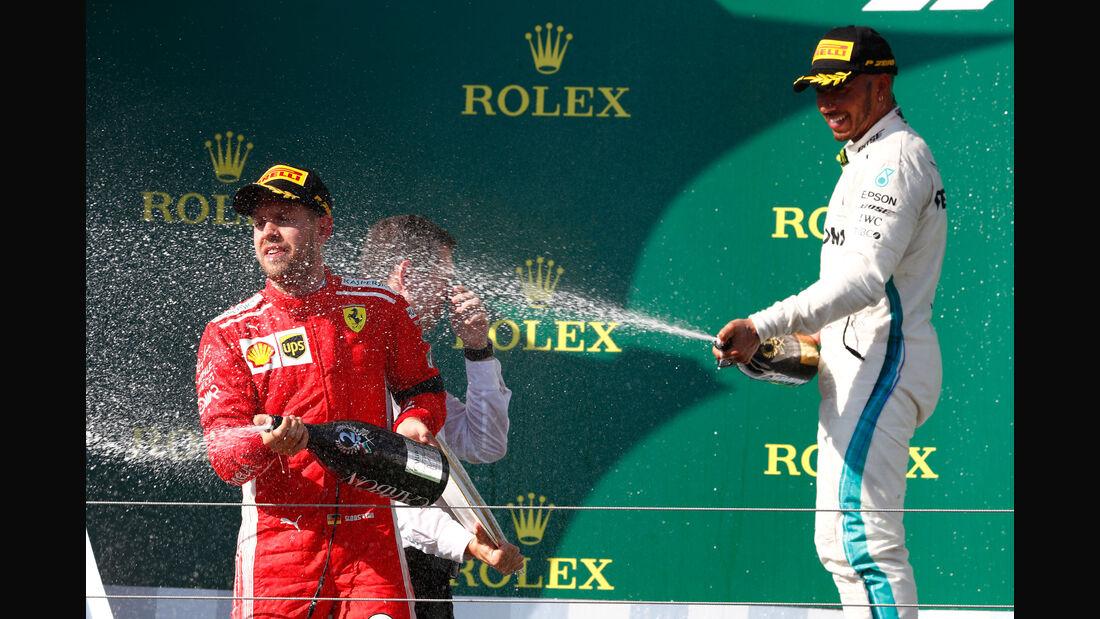 Hamilton - Vettel - GP Ungarn 2018 - Budapest - Rennen