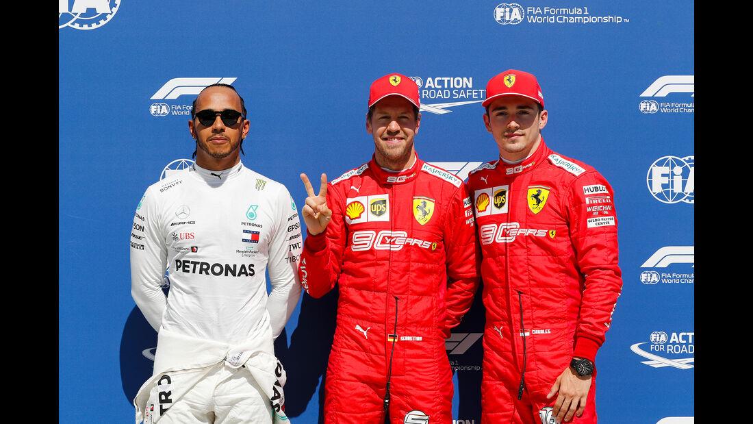 Hamilton, Vettel & Leclerc - Formel 1 - GP Kanada - Montreal - 8. Juni 2019