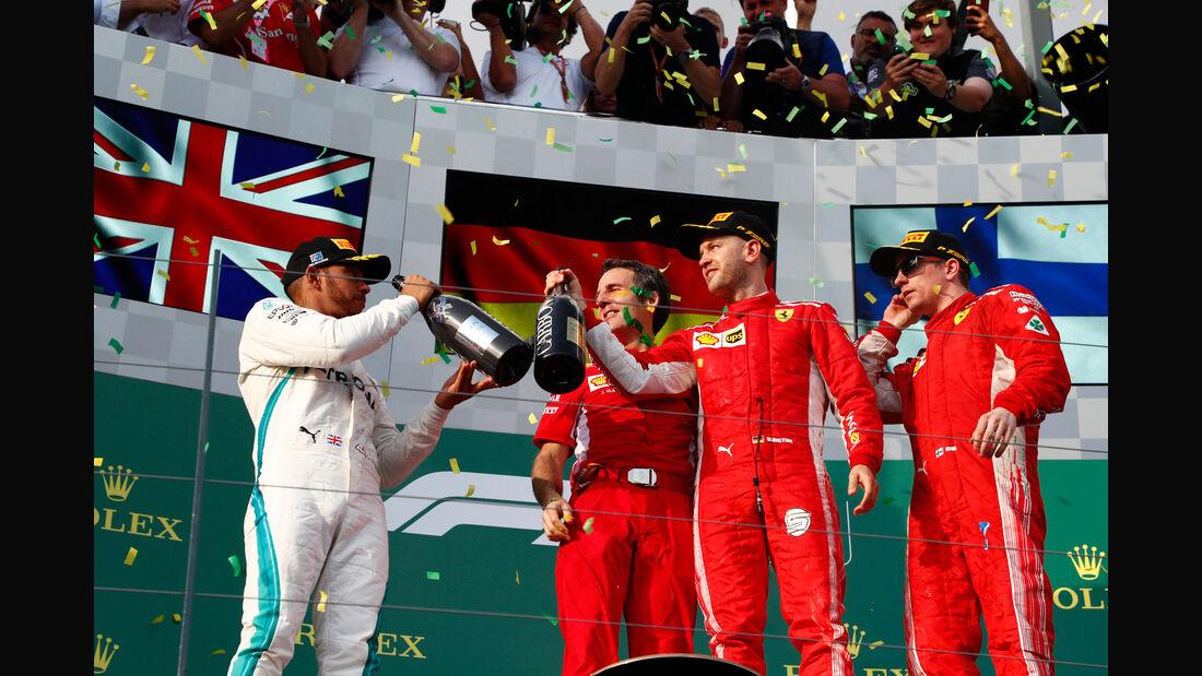 Hamilton - Vettel - Räikkönen - GP Australien 2018 - Melbourne - Rennen
