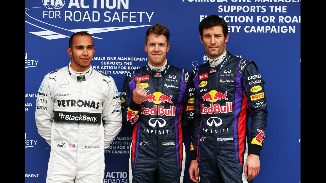 Hamilton, Vettel & Webber - GP Australien 2013