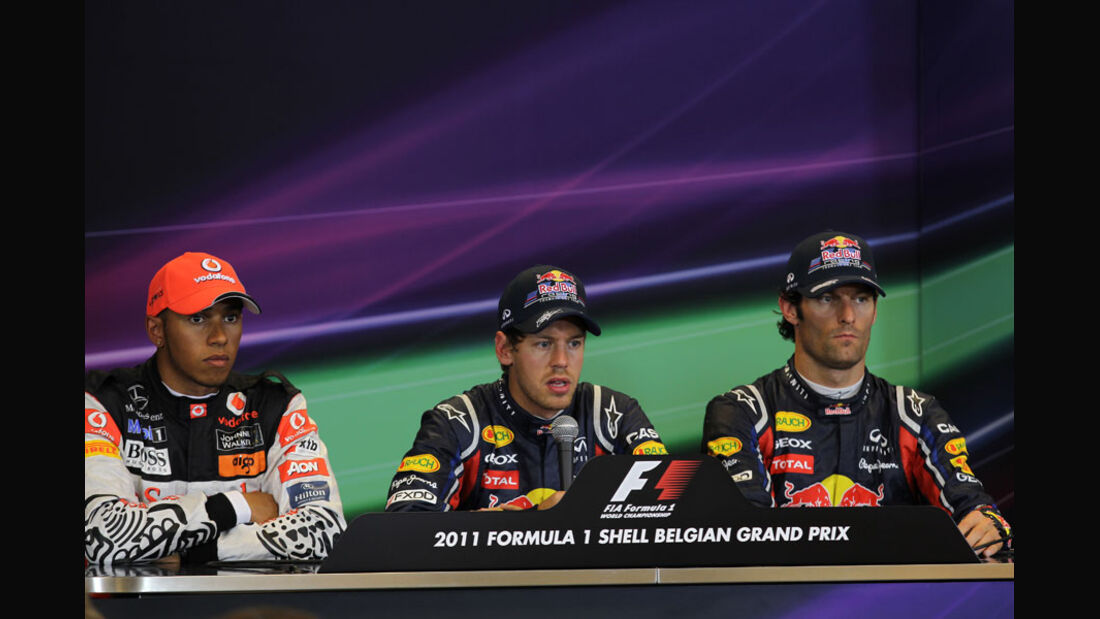 Hamilton, Vettel & Webber - GP Belgien - Qualifying - 27.8.2011