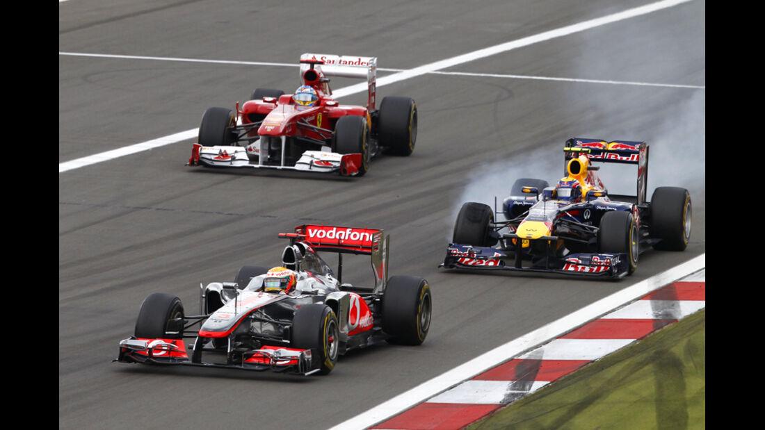 Hamilton Webber Alonso GP Deutschland 2011