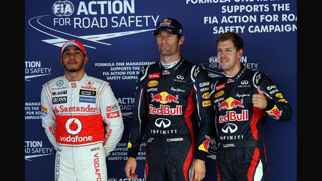 Hamilton, Webber & Vettel - Formel 1 - GP Korea - 13. Oktober 2012