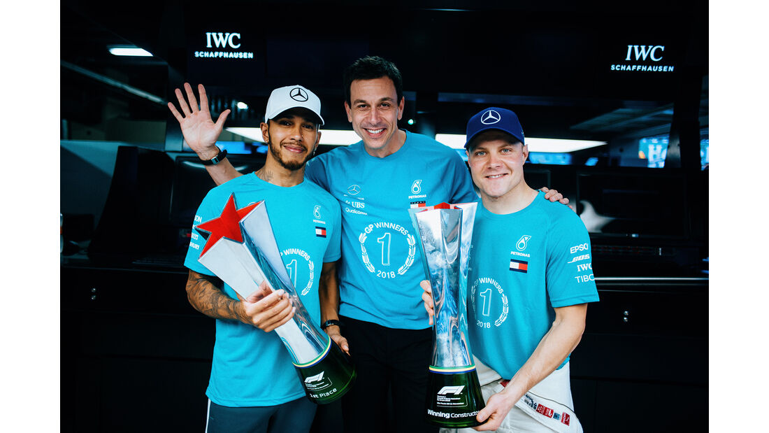 Hamilton, Wolff & Bottas - GP Brasilien 2018