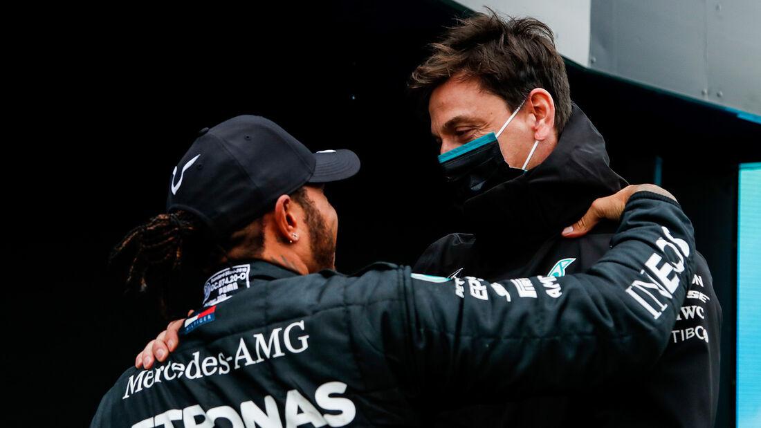 Hamilton - Wolff - Mercedes - GP Türkei 2020 - Istanbul - Rennen