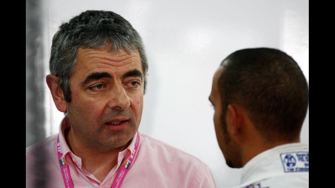 Hamilton und Mr. Bean - GP Indien - Delhi - 29.10.2011