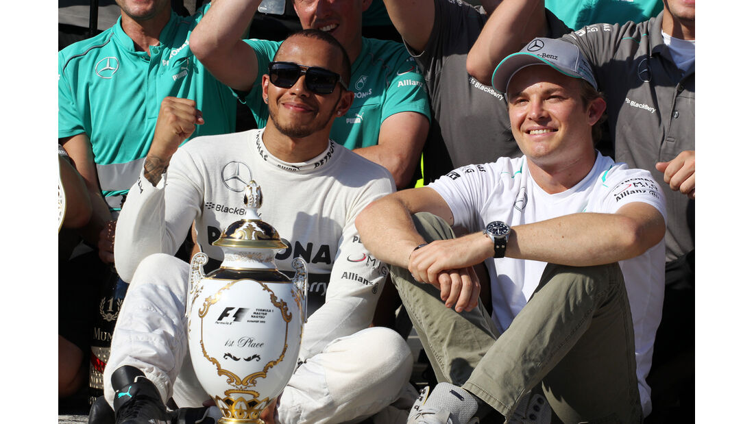 Hamilton und Rosberg - Formel 1 - GP Ungarn 2013