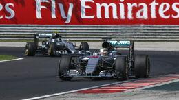Hamilton und Rosberg - GP Ungarn 2016