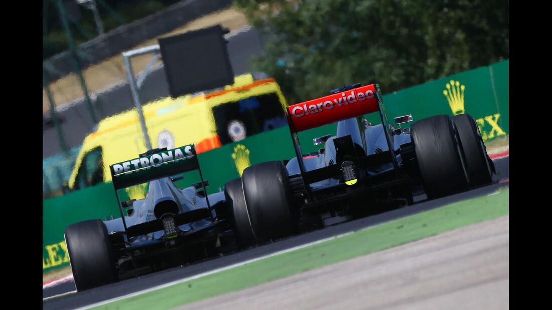 Hamilton vs. Button - Formel 1 - GP Ungarn 2013
