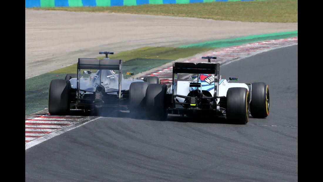 Hamilton vs. Massa - GP Ungarn 2015
