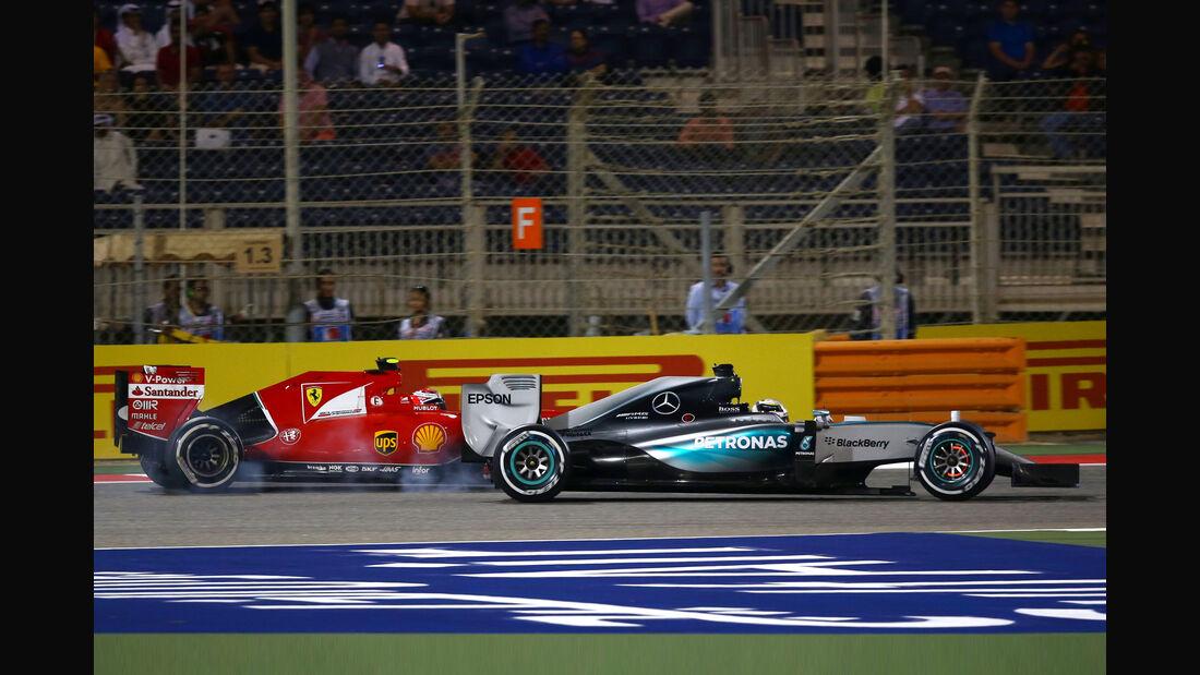 Hamilton vs. Räikkönen - GP Bahrain 2015