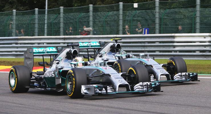 Hamilton vs. Rosberg - GP Belgien 2014