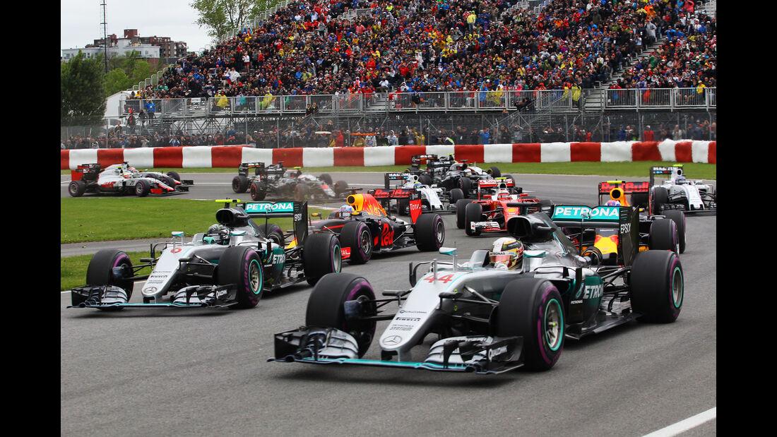 Hamilton vs. Rosberg - GP Kanada 2016