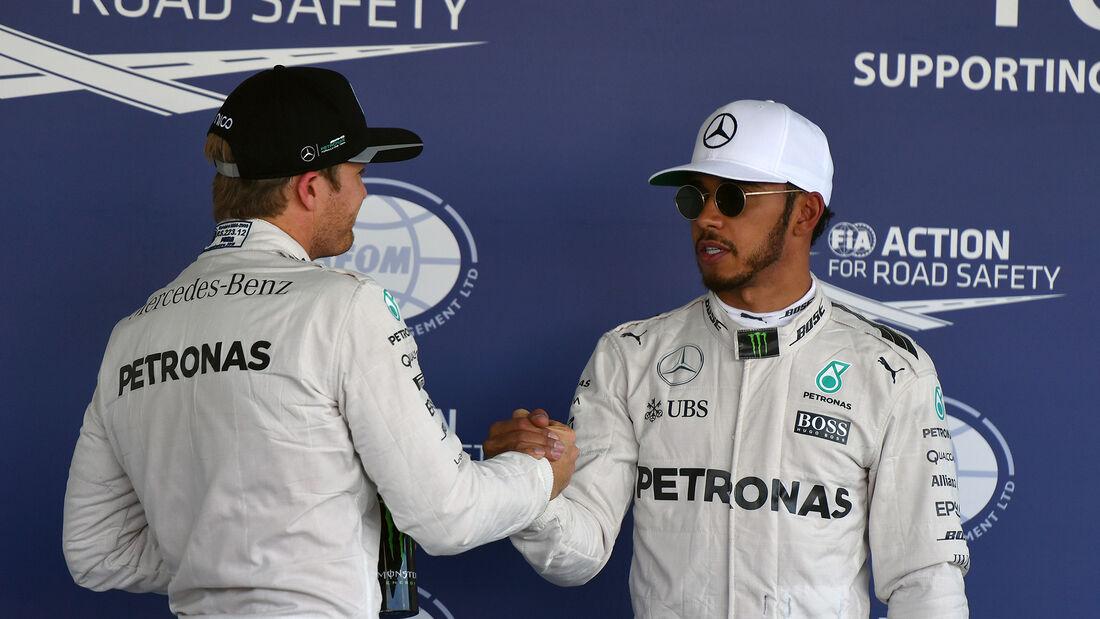 Hamilton vs. Rosberg - GP Mexiko 2016
