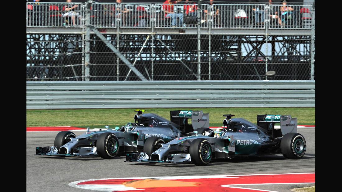 Hamilton vs. Rosberg - GP USA 2014