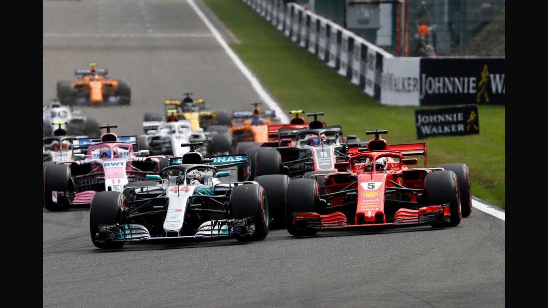 Hamilton vs. Vettel - Formel 1 - GP Belgien 2018