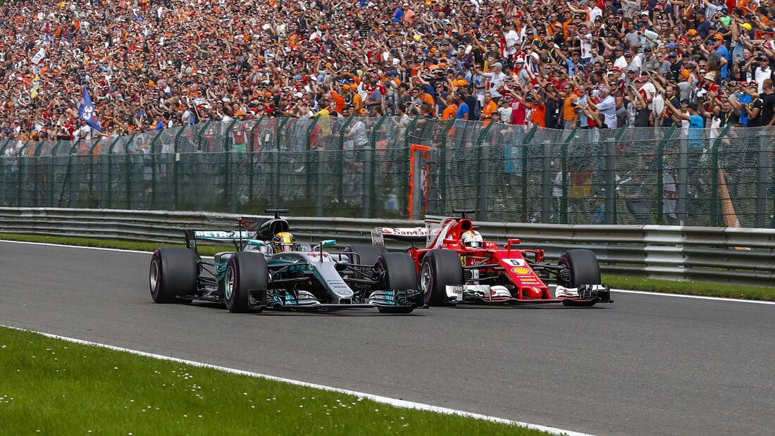 Hamilton vs. Vettel - GP Belgien 2017