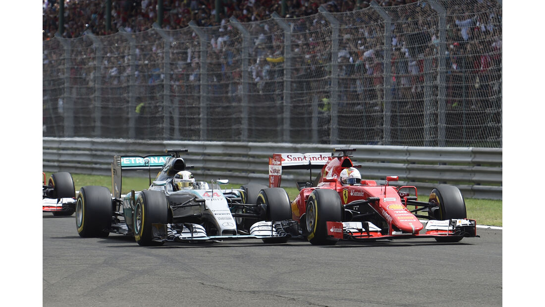 Hamilton vs. Vettel - GP Ungarn 2015