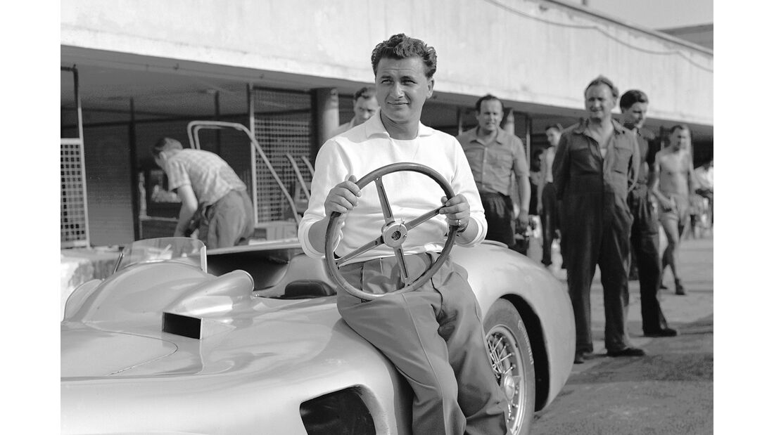 Hans Herrmann - Mercedes W196 - Monza - 1955
