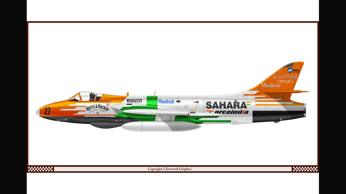 Hawker Hunter - Force India - Racing-Planes - 2015